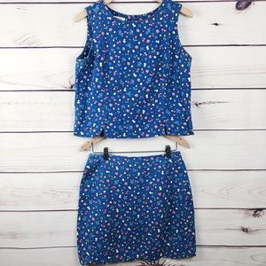 Vintage Talbots Fruity Two Piece Skirt & Top